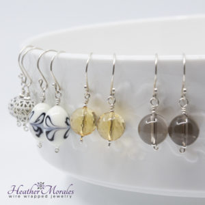 Heather Morales Designs, Earrings, Dangles, Sterling Silver and Copper