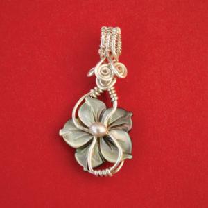 Abalone Flower Pendant