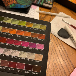 Prismacolor Pencils Color Swatch